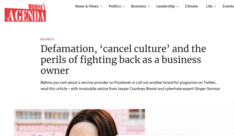 Cancel Culture Article