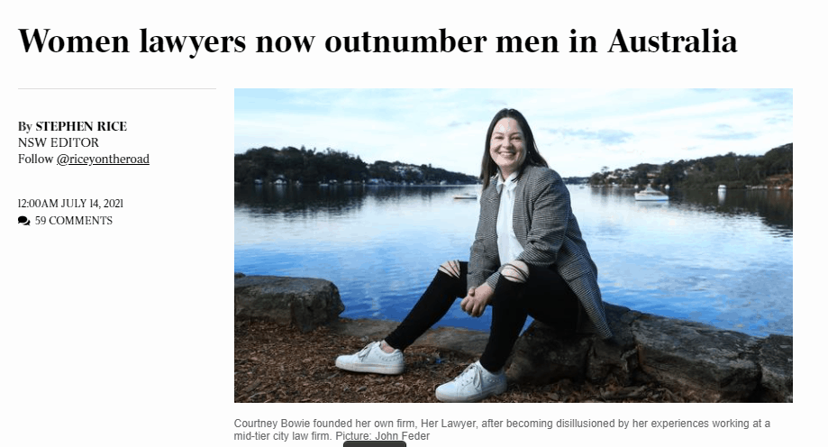 Women Lawyers Outnumber Men